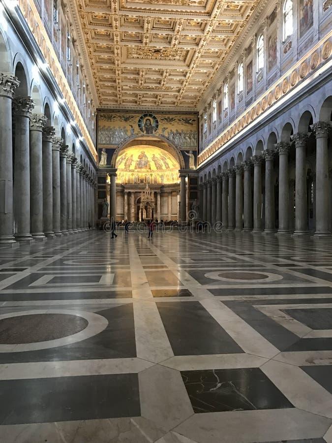 St Paul Outside Walls Basilica - Rome royaltyfria foton