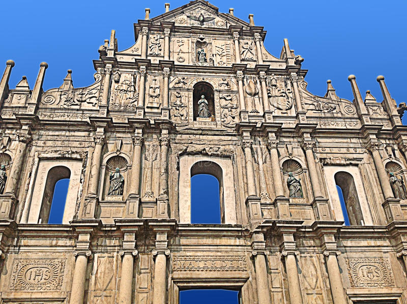 St Paul Ruins - Macao photographie stock