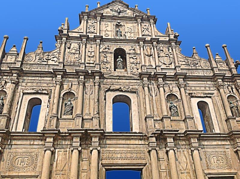 St Paul Ruins - Macao fotografia stock