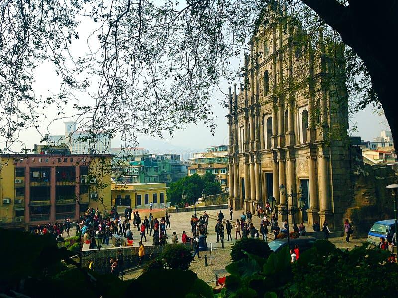 St Paul ruiny - Macau obrazy stock