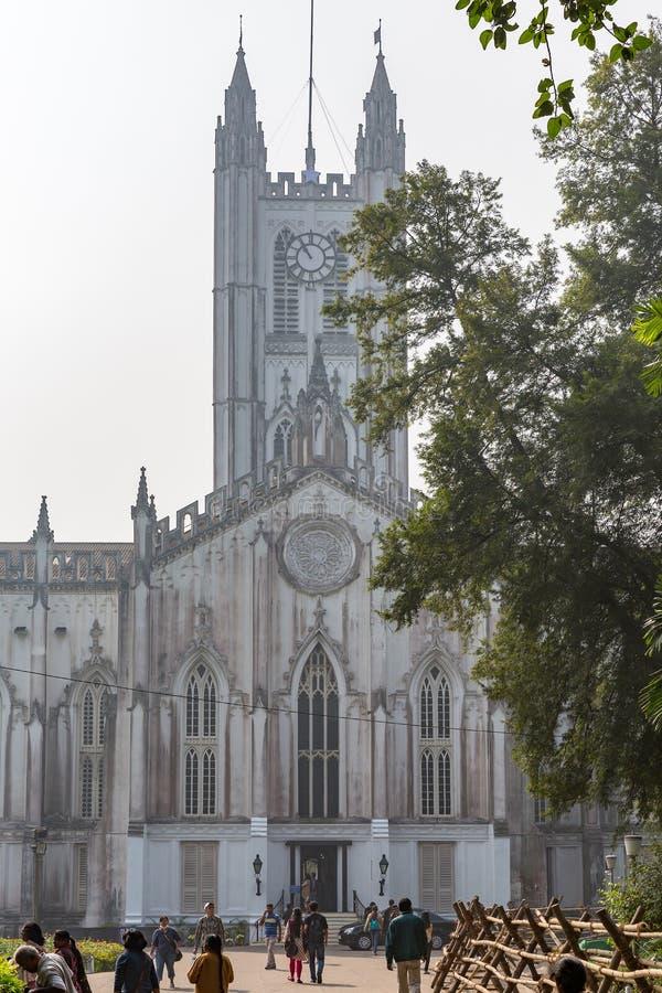 St. Paul`s Cathedral, Kolkata, West Bengal, India stock photos