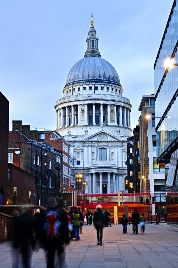Download St. Paul's Cathedral London At Dusk Stock Image - Image: 11010561
