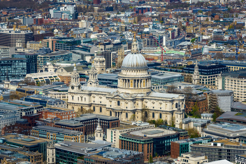 St Paul's cathedral in London stock photos