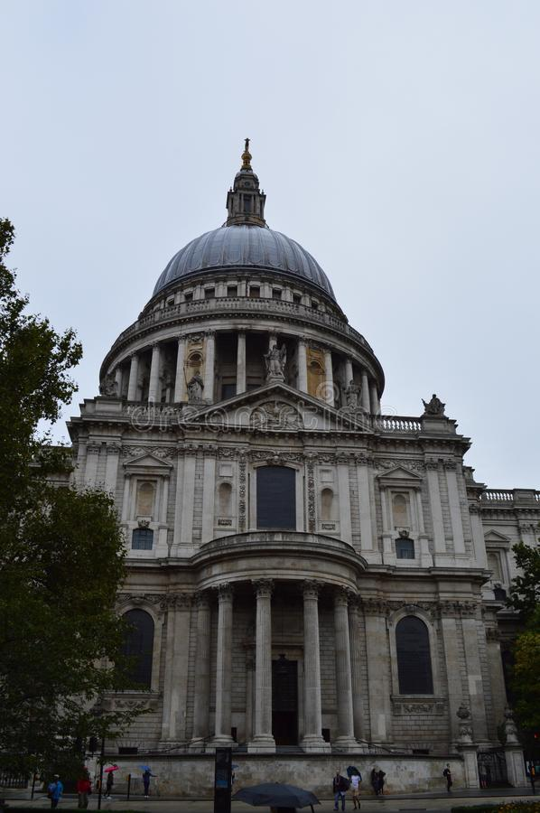 St. Paul`s Cathedral in London. Famous Cathedral that have held services for the Duke of Wellington, Sir Winston Churchill, and Margaret Thatcher; jubilee royalty free stock images