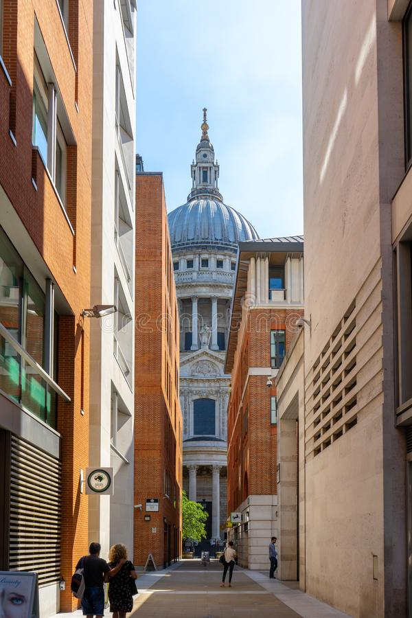 St. Paul`s Cathedral in London, UK royalty free stock photos
