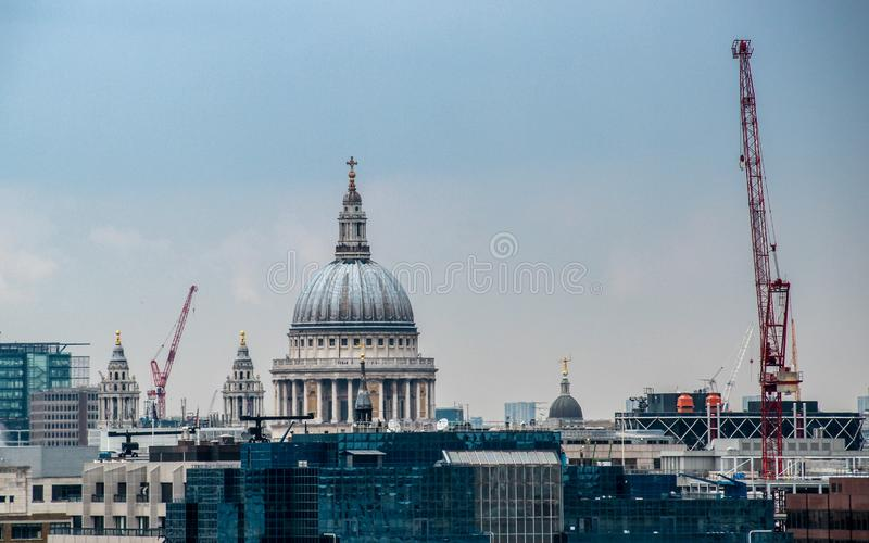St Paul`s Cathedral in London, United Kingdom stock image