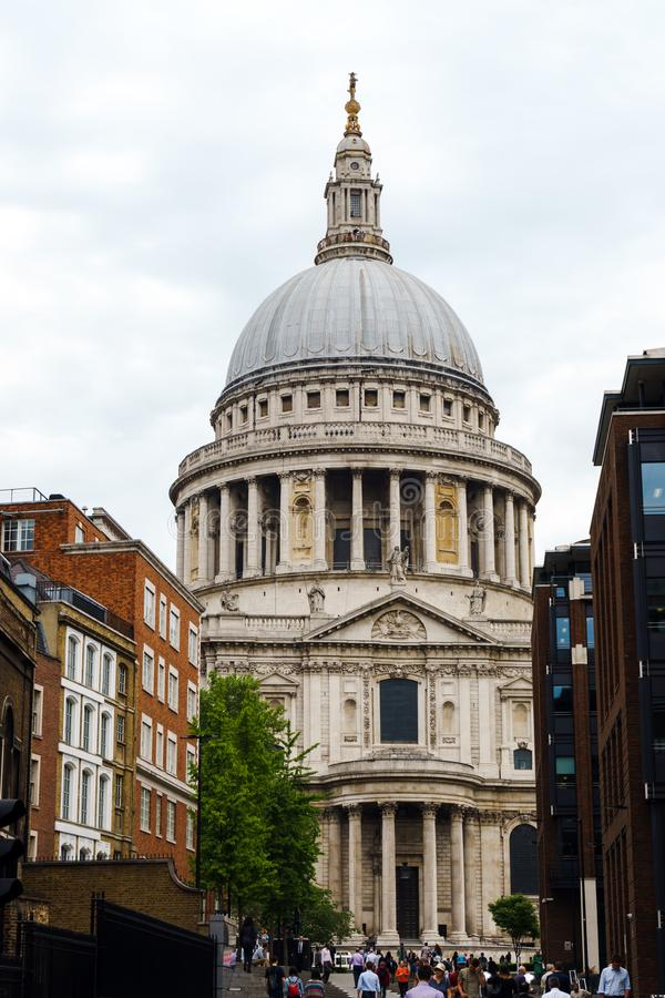 St. Paul`s Cathedral in London, United Kingdom, May 24, 2018 royalty free stock photos