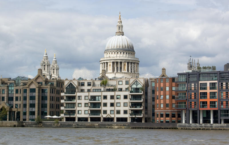 Download St Paul's Cathedral From The River Thames Stock Image - Image of image, exterior: 15806749