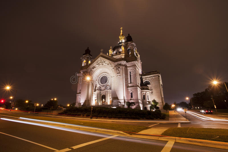 St. Paul's Cathedral in St. Paul, Minnesota stock photo