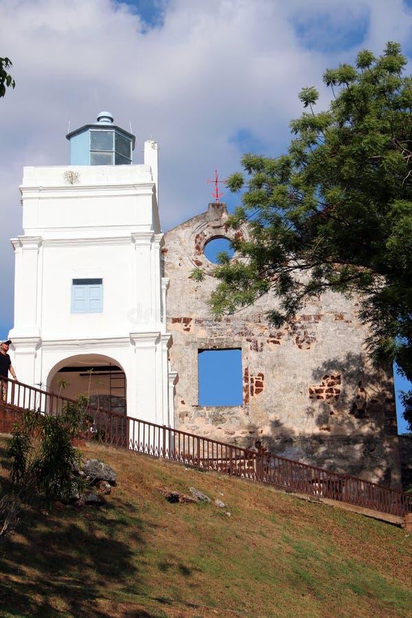 St Paul ` s Kerk - Melaka stock afbeelding