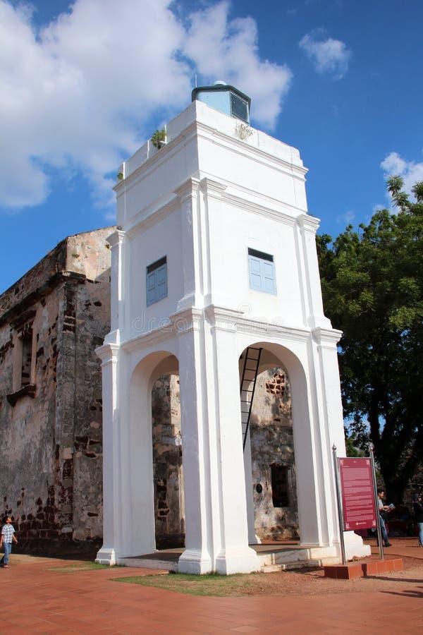 St Paul ` s Kerk - Melaka stock foto's
