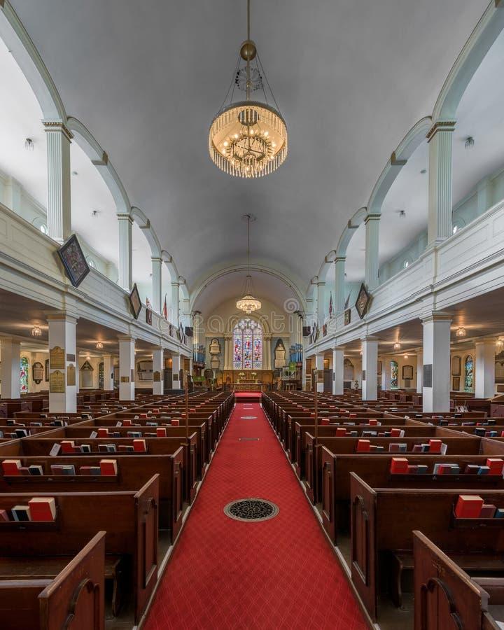 St Paul ` s Kerk van Halifax stock foto's