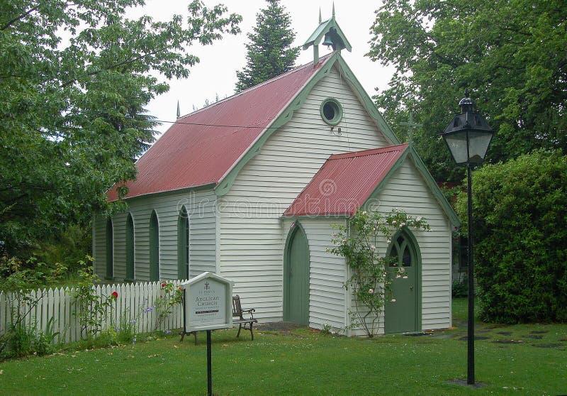 St Paul ` s kościół - Arrowtown obraz royalty free