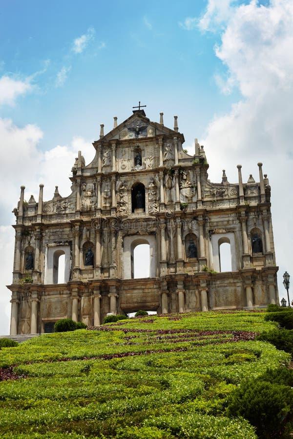 Download St Paul's Ruins, Iconic Church In Macau, Chin Stock Photo - Image: 10956858