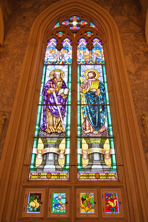 Download ST. Paul  And  ST. Peter Stained Glass Stock Photo - Image: 16628210
