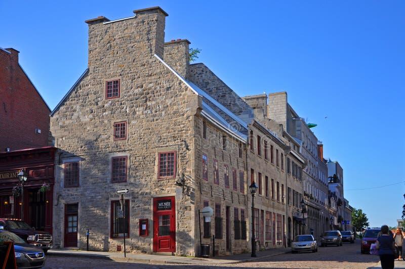 St Paul Street, vieux Montréal, Québec, Canada photos libres de droits