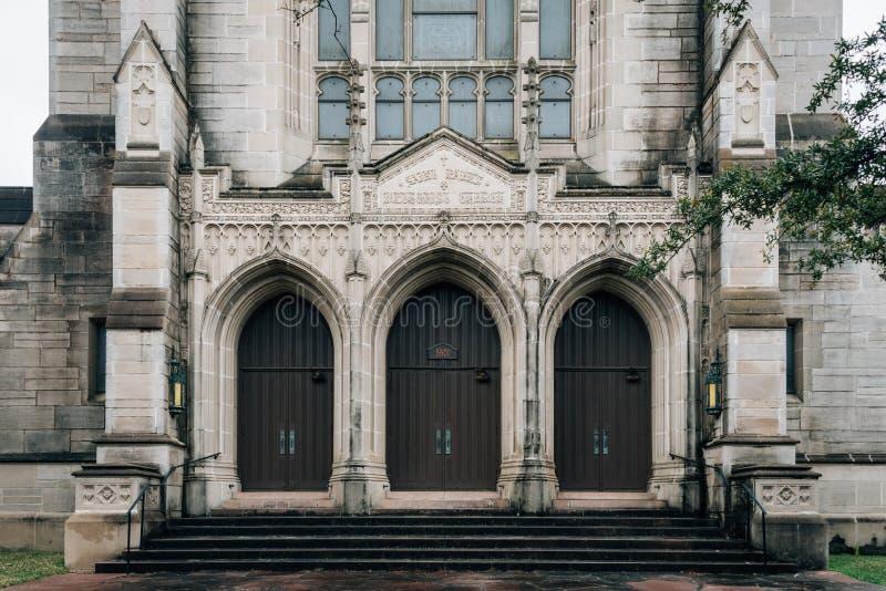 St Paul Verenigde Methodist Kerk, in Houston, Texas stock afbeelding