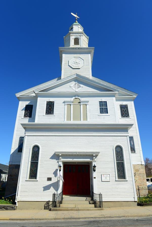 St Paul Verenigde Methodist Kerk, Nieuwpoort, Rhode Island stock fotografie