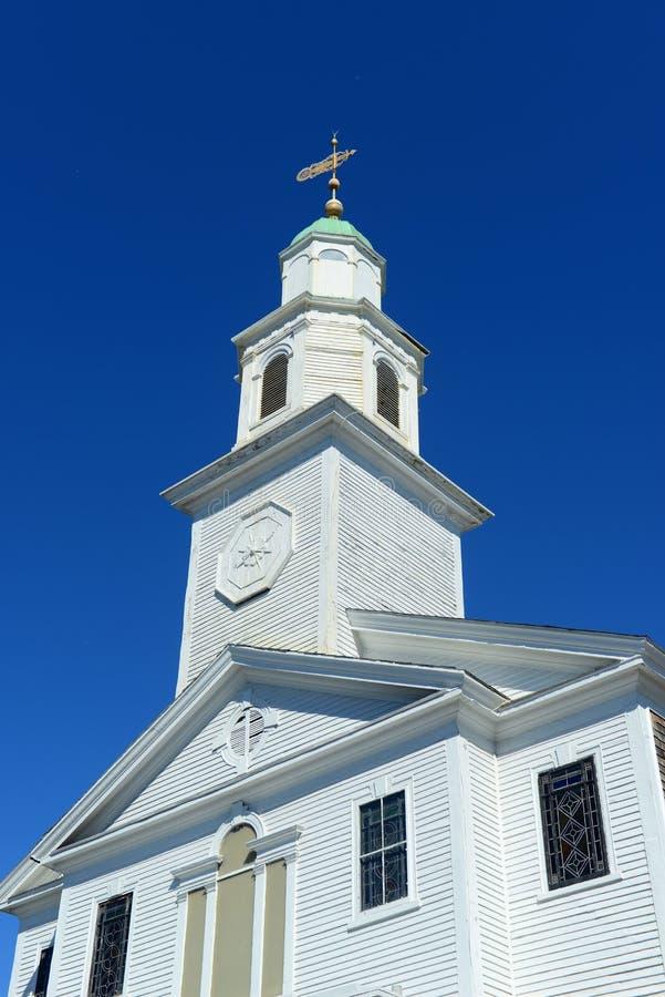St Paul Verenigde Methodist Kerk, Nieuwpoort, Rhode Island royalty-vrije stock afbeeldingen