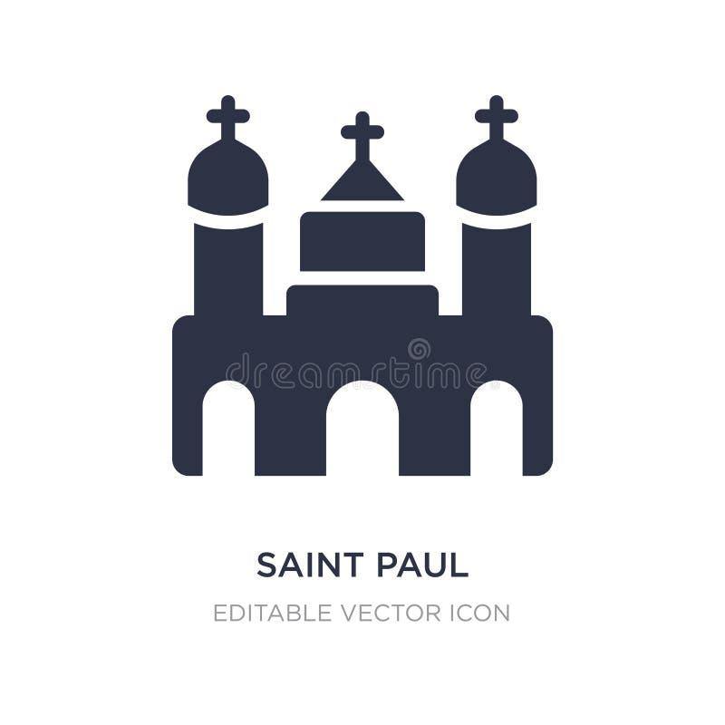 St- Paulikone auf weißem Hintergrund Einfache Elementillustration vom Monumentkonzept vektor abbildung