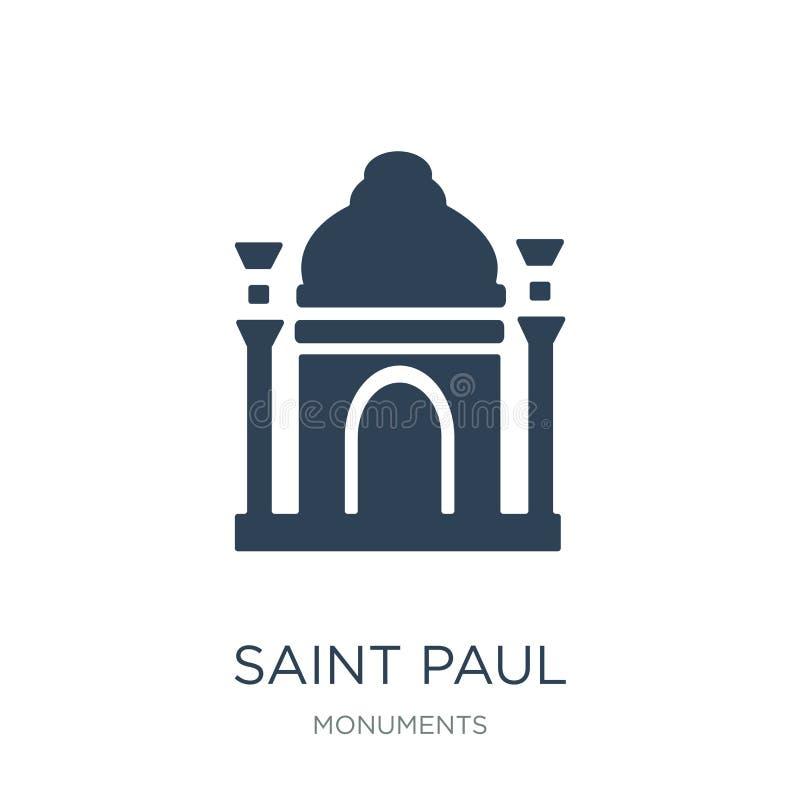 St- Paulikone in der modischen Entwurfsart St- Paulikone lokalisiert auf weißem Hintergrund St- Paulvektorikone einfach und moder stock abbildung