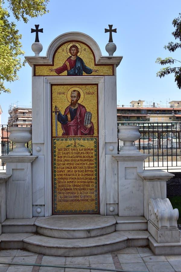 St- Paulmonument in Verea, Detail lizenzfreies stockbild