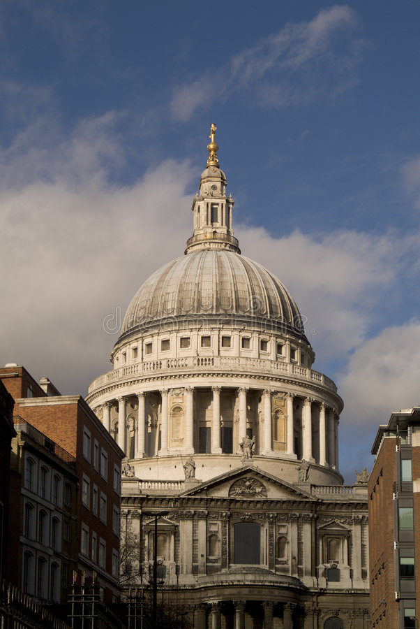 St pauls cathedral city of london england stock image
