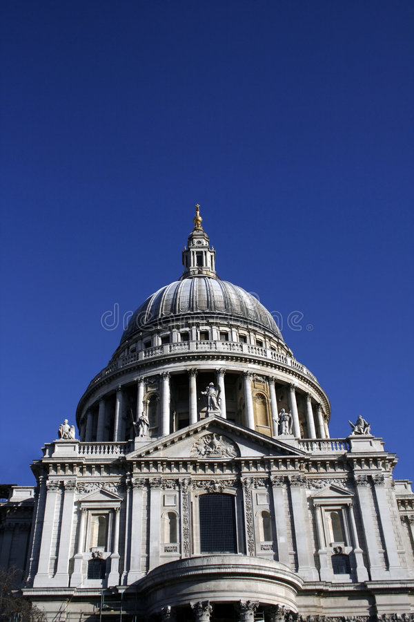 St Pauls Cathedral London stock photo
