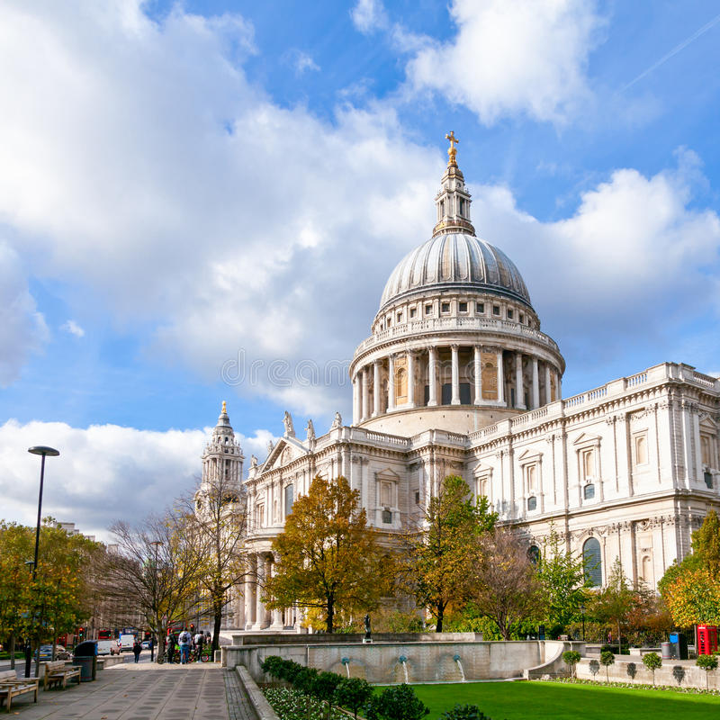 St Pauls Cathedral a Londra Regno Unito fotografie stock