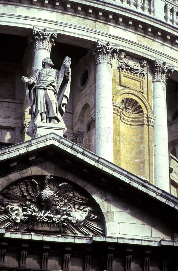 St. Pauls- London, England royalty free stock image