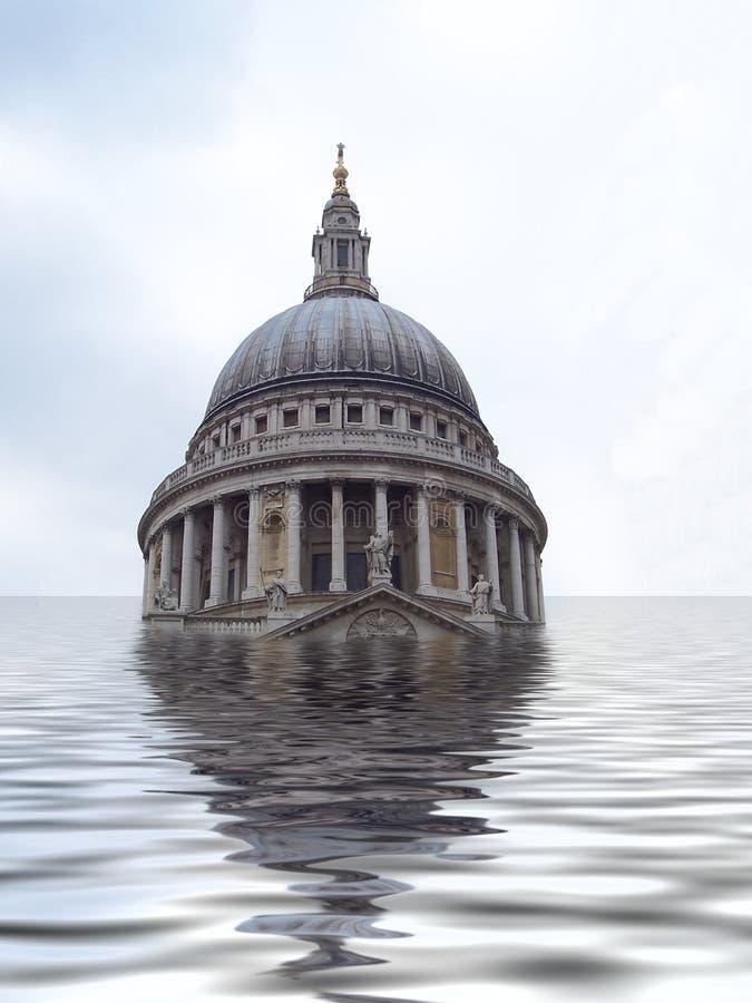 St Pauls onderwater royalty-vrije stock afbeeldingen