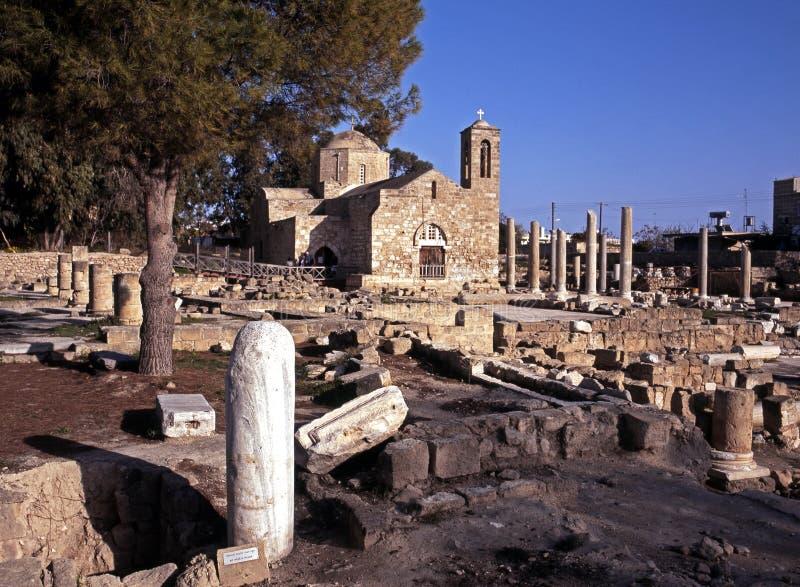Download St. Pauls Pillar And Basilica, Paphos, Cyprus. Stock Photo - Image: 26844718