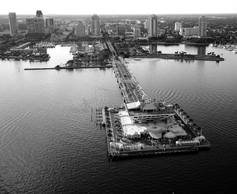 St. Pete Aerial View stock photos