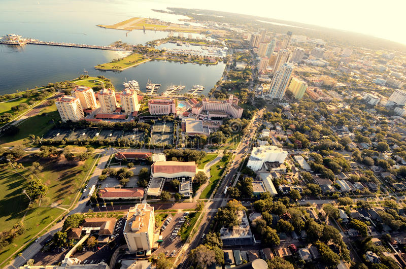 St. Pete Aerial View. Aerial view of St. Petersburg, Florida royalty free stock photo