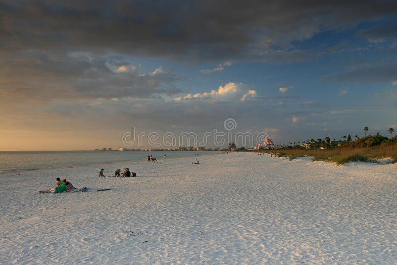 St. Pete Beach Florida. St. Pete Beach with Don Cesar Hotel, Florida at sunset royalty free stock photo