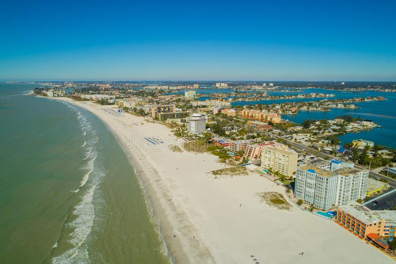 Drone aerial image St Pete Beach Florida USA. St Pete Beach Florida USA stock photo