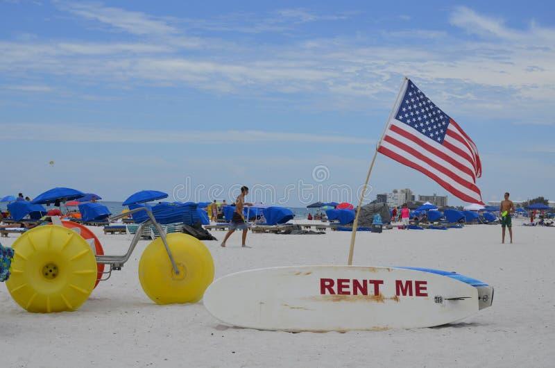 St Pete Beach i St Petersburg, Florida arkivfoto