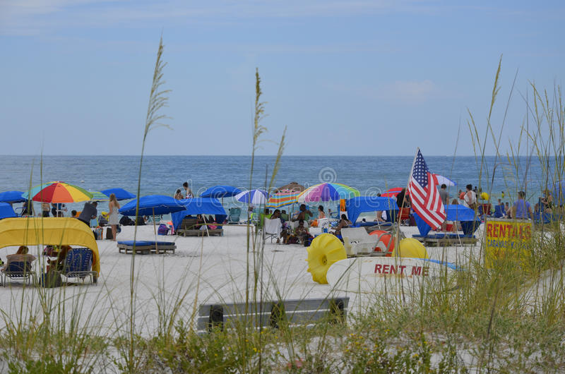 St. Pete Beach in St Petersburg, Florida lizenzfreie stockbilder