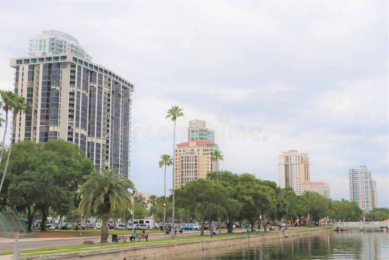 St Pete skyline. St Pete is exploding with activity and a fantastic lifestyle for Florida stock photos