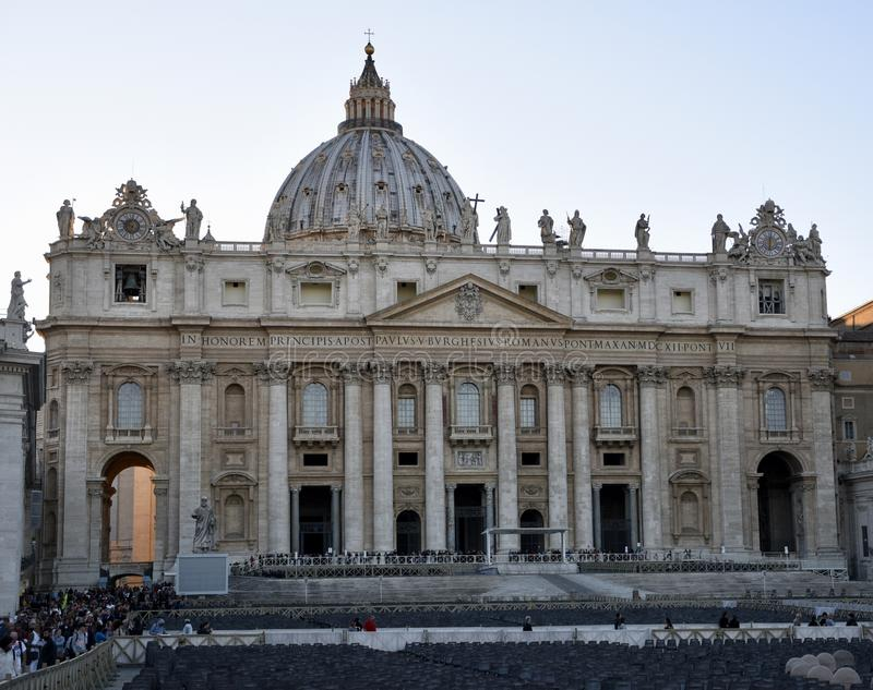 St. Peter's Basilica. This is a Fall picture of the iconic St. Peter's Basilica located in Vatican City, Italy. This Basilica is an example of stock photography