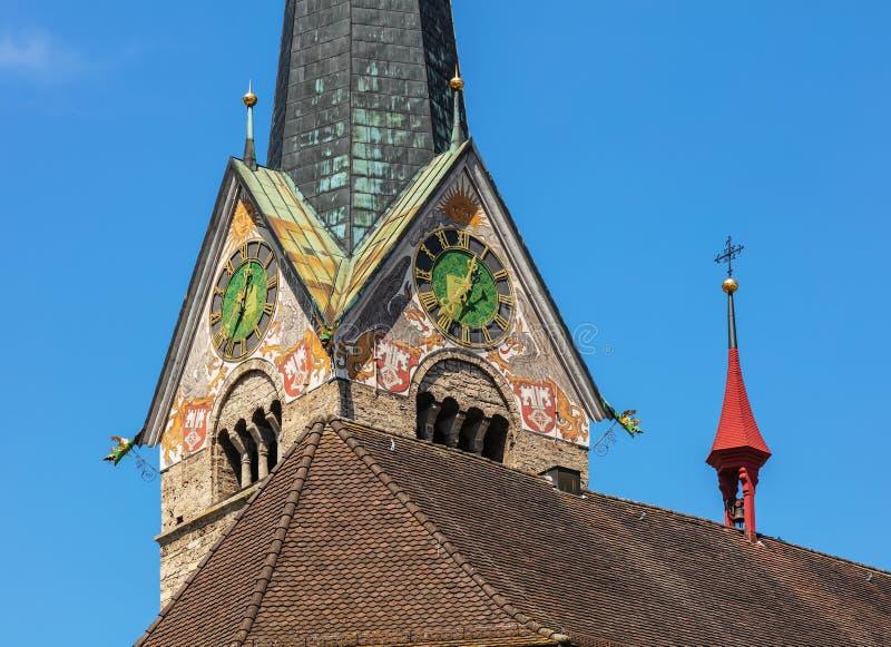 ST Peter και εκκλησία του Paul σε Stans, Ελβετία στοκ εικόνα