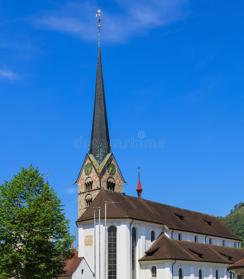 ST Peter και εκκλησία του Paul σε Stans, Ελβετία στοκ φωτογραφίες