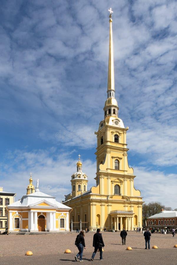 ST Peter και καθεδρικός ναός του Paul στο Peter και το φρούριο του Paul, Αγία Πετρούπολη στοκ φωτογραφίες με δικαίωμα ελεύθερης χρήσης