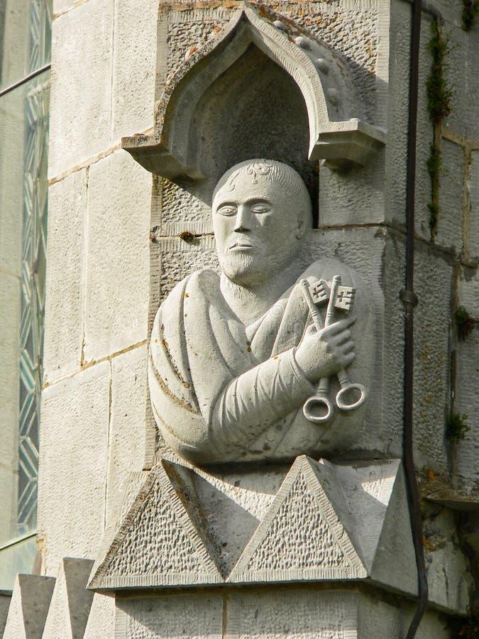 St Peter с ключами стоковые фото
