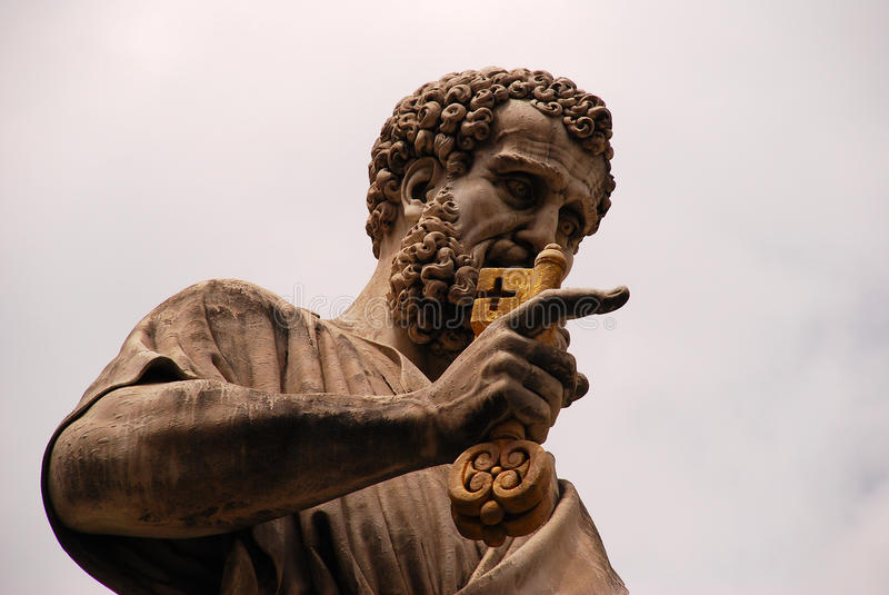 St. Peter. Statue of St. Peter in Vatican (Rome stock photography