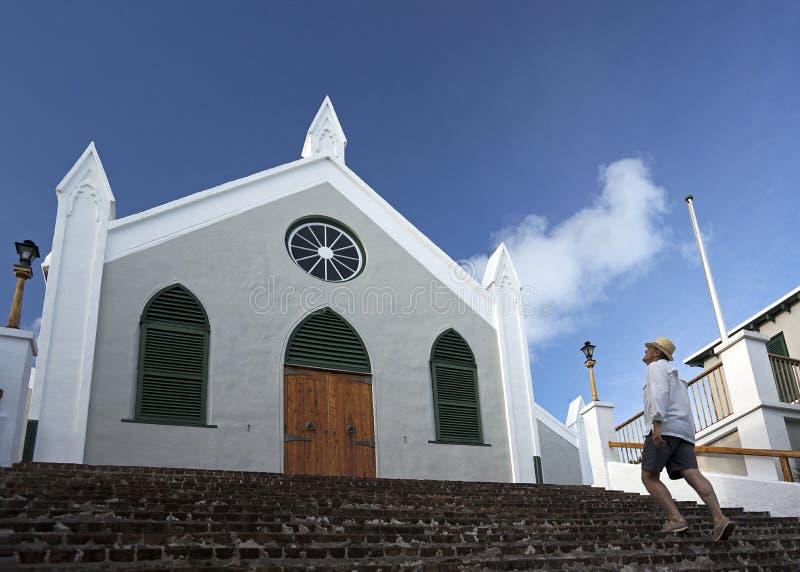St Peter Anglicaanse Kerk, St George, de Bermudas royalty-vrije stock fotografie