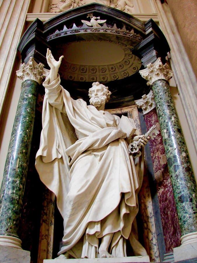 St Peter, Archbasilica St John Lateran, Rzym zdjęcie royalty free