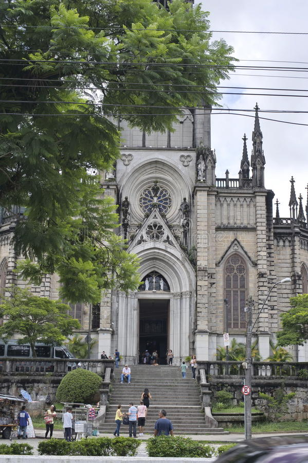 St Peter av den Alcantara domkyrkan i Petropolis, Rio de Janeiro arkivfoton