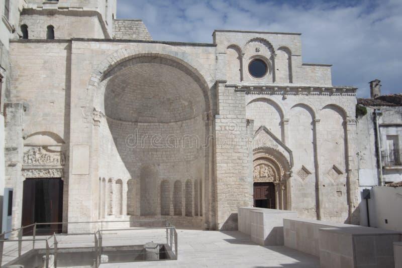 St Peter Baptistery Monte Sant «Angelo Foggia Włochy obrazy stock