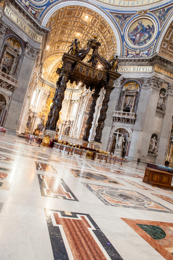 St Peter & x27; basílica de s - Cidade Estado do Vaticano, Roma, Itália fotografia de stock royalty free